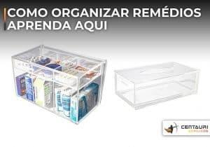 caixa de acrílico para remédio