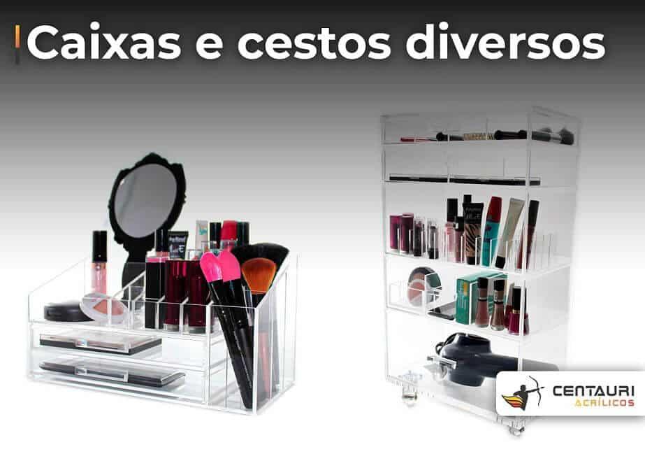 organizador de acrílico para maquiagens