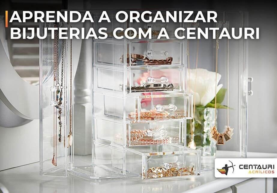 organizador de bijuterias de acrílico