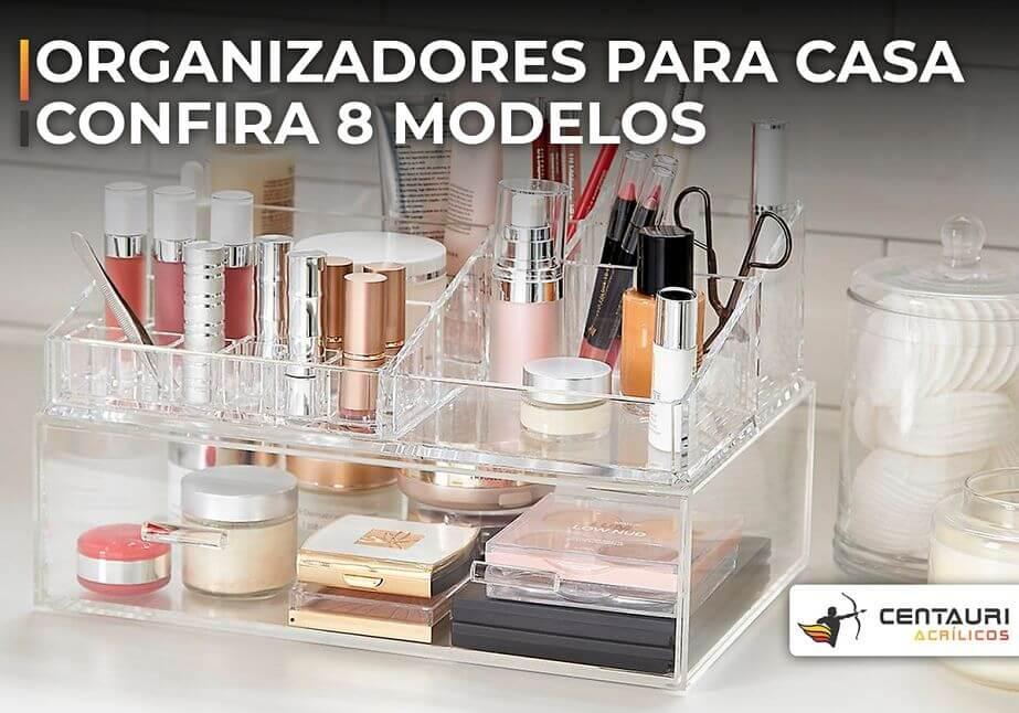 organizador de maquiagem de acrílico