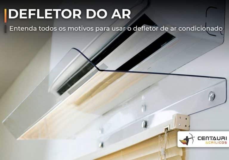 defletor de ar condicionado em acrílico transparente