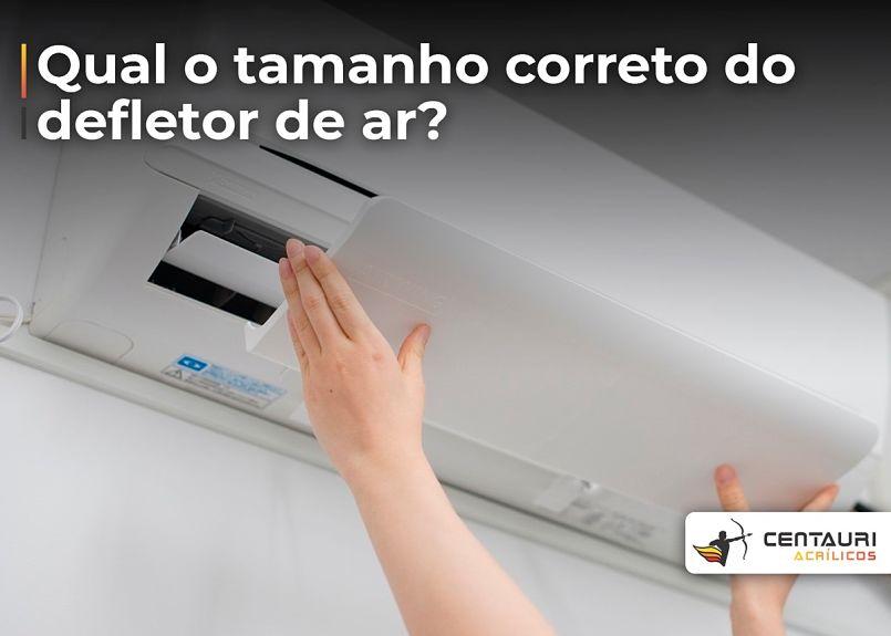 defletor de ar condicionado sendo aplicado