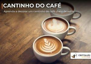 xícaras de café decorada