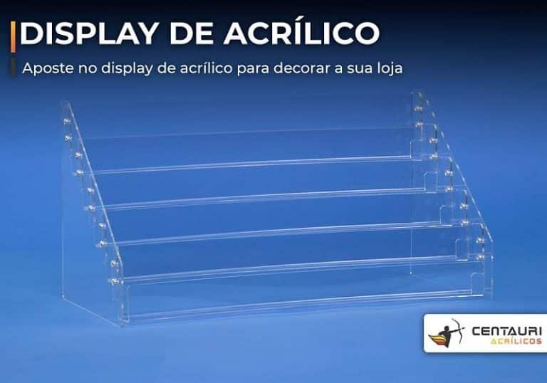 display de acrílico transparente