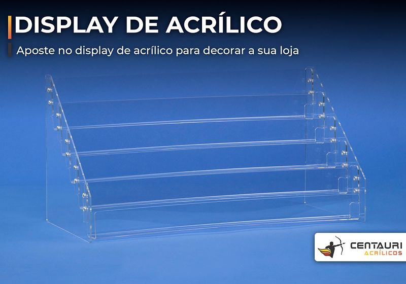 display de acrílico transparente