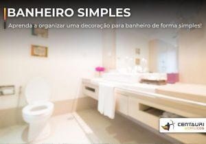 decoração de banheiro simples