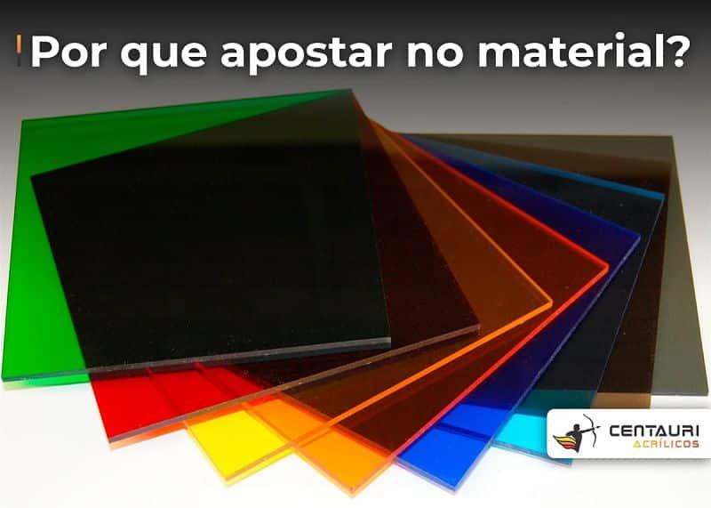 placas de acrílico colorido transparente