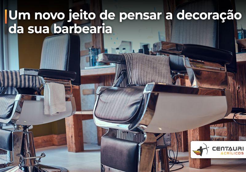 Imagem de barbearia com foco em cadeira