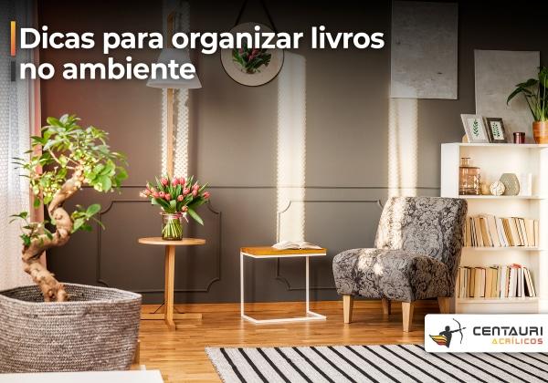 Sala de estar com o ambiente organizado
