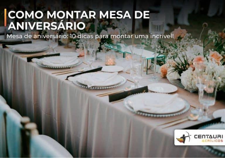 mesa de festa prepara para refeição
