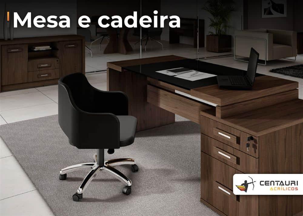 mesa a e cadeira de escritório em estilo clean moderno