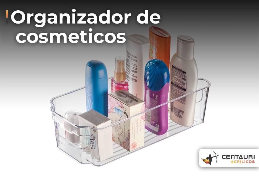 organizado de cosmético em acrílico transparente