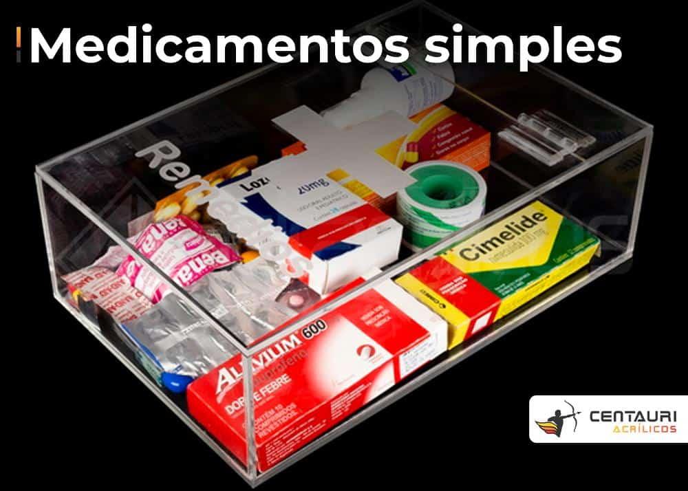 organizador em acrílico para medicamentos simples