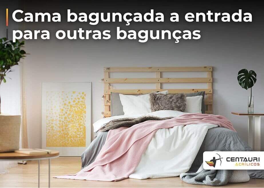 cama bagunçada