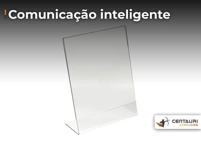 display vertical transparente