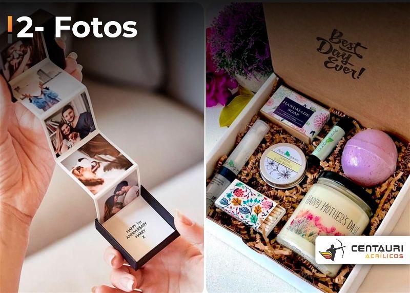 Caixa de presente para dia das mães com fotos