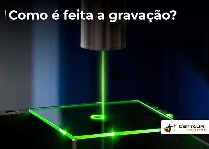 gravação em acrílico a laser
