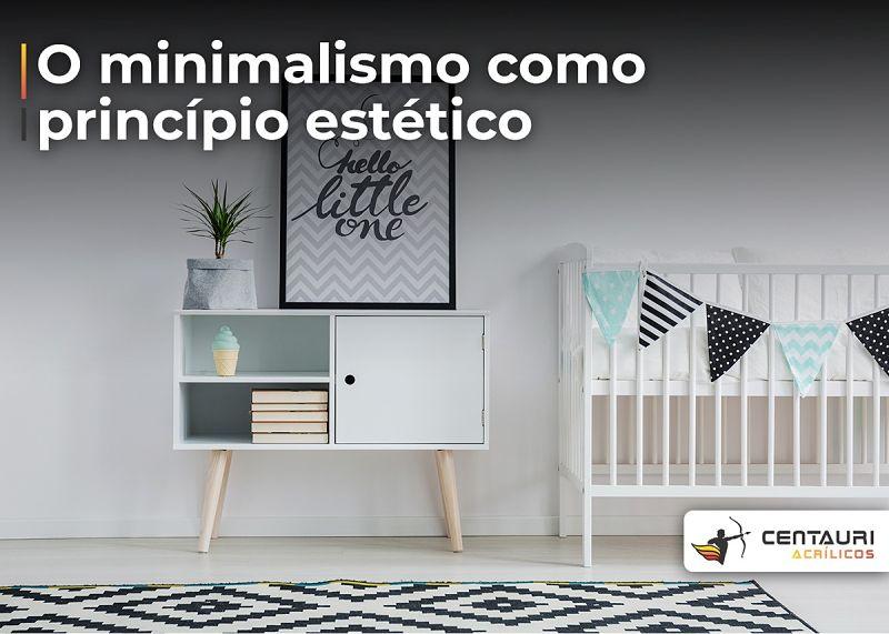 minimalismo quarto de bebe