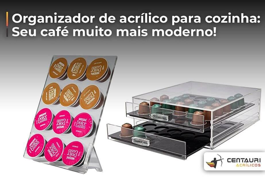organizador de acrílico de capsulas de café