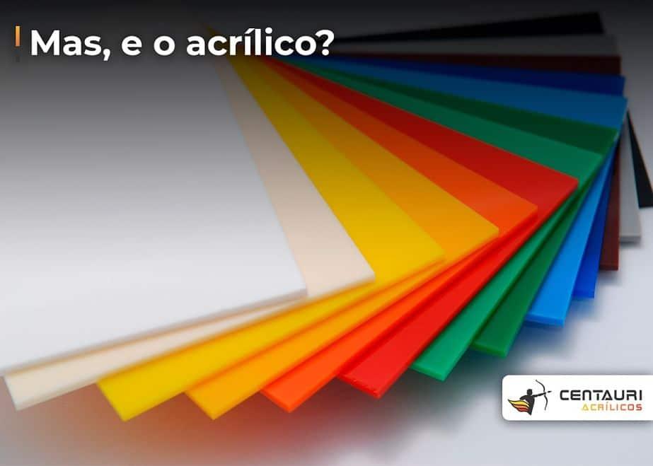 placas de acrílico colorido